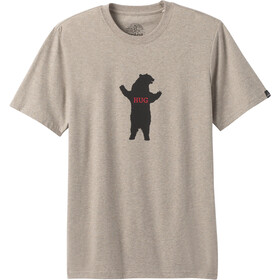 Prana Bear Squeeze Journeyman Kurzarm T-Shirt Herren dark khaki heather